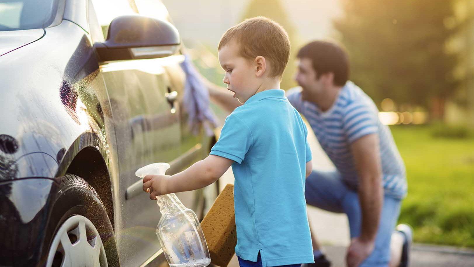 Teach Language at Home: Washing The Car